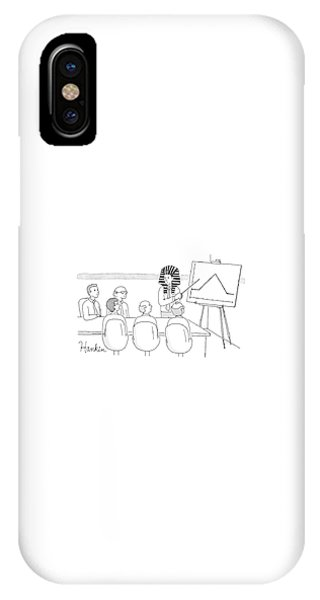 Pharaoh iPhone Case - A Man In A Pharaoh Headdress Stands At The Front by Charlie Hankin