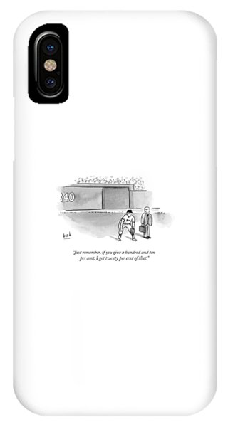 A Man In A Suit Stands Beside A Baseball Player IPhone Case