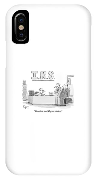 A Man Introduces A Lawyer To An Irs Agent IPhone Case