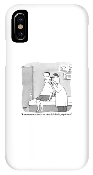 A Man Looks Inside A Patient's Ear IPhone Case