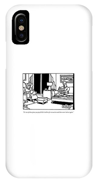 A Man Reads A Newspaper In His Living Room IPhone Case