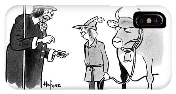 A Man Sells A Boy Leading A Cow  Beans -- Jack IPhone Case