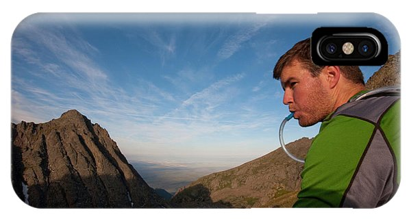 Sangre De Cristo iPhone Case - A Man Taking A Water Break On A Ridge by Rich Crowder