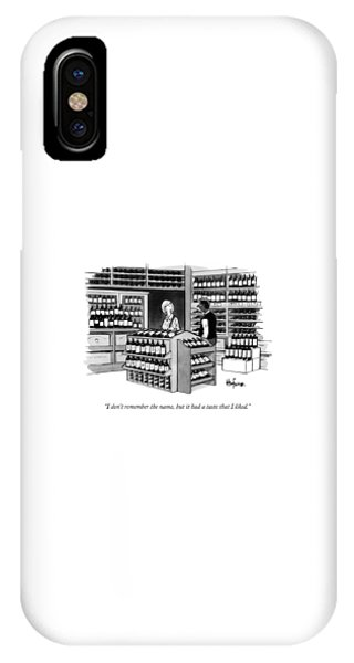A Man Talking To An Employe At A Wine Store IPhone Case