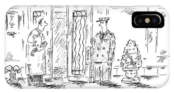 A Man Tells His Doorman IPhone Case