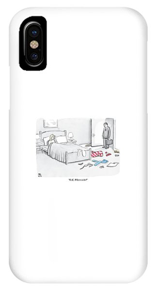A Man Walks Into A Room To Find His Wife In Bed IPhone Case