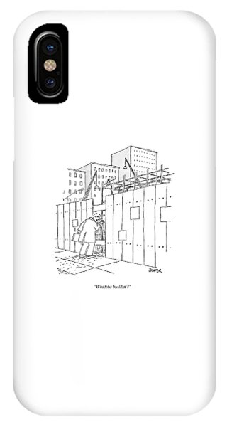 A Man With A Briefcase Looks Downwards IPhone Case