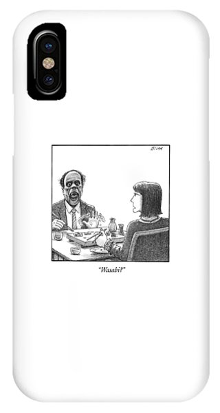 Mustard iPhone Case - A Man's Face Forms A Monstrous Scream by Harry Bliss