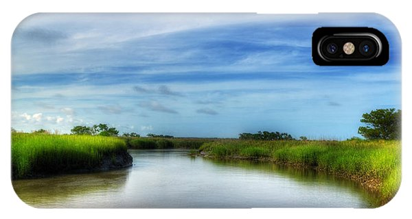 Tidal Marsh iPhone Case - A Marsh At Jekyll Island by Greg and Chrystal Mimbs