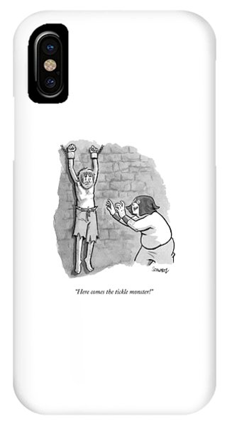 Dungeon iPhone Case - A Medieval Torturer Approaches A Hanging by Benjamin Schwartz