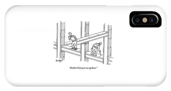 Escher Get Your Ass Up Here IPhone Case