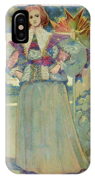 A Middle-class Lady In  Lacy Collar Phone Case by Mary Evans Picture Library
