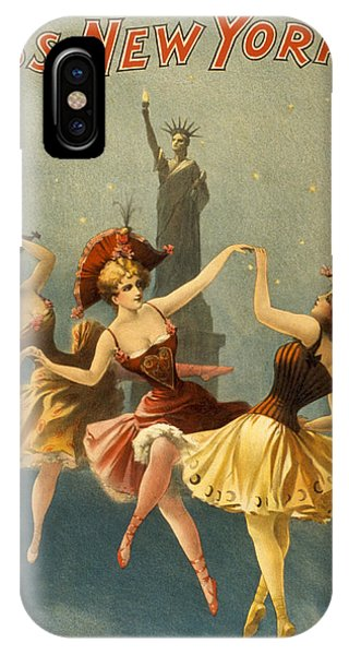 Dance iPhone Case - A Midnight Frolic by Aged Pixel