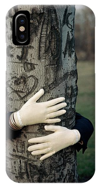 A Model Hugging A Tree IPhone Case