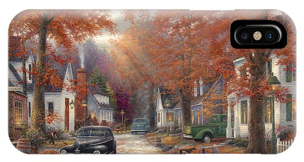 Street iPhone Case - A Moment On Memory Lane by Chuck Pinson