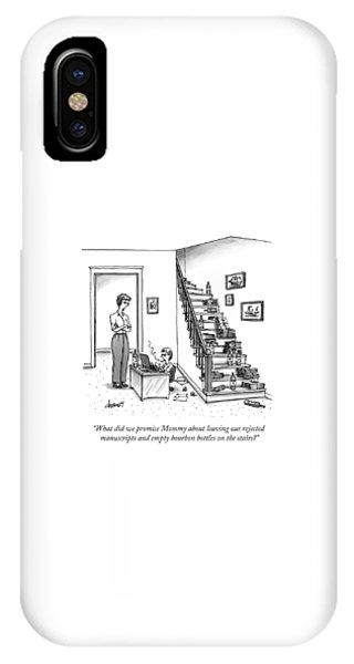 A Mother Speaks To Her Son IPhone Case