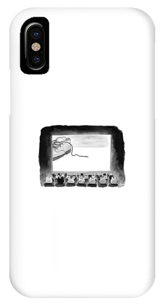 A Movie Theater Audience Of All Cats Watches IPhone Case