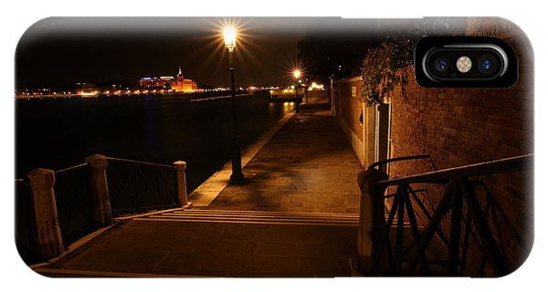 A Night Walk In Venice IPhone Case