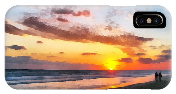 A Painting Of The Sunset At Sea IPhone Case