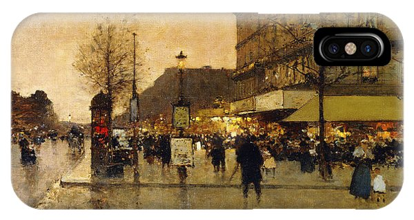 A Parisian Street Scene IPhone Case