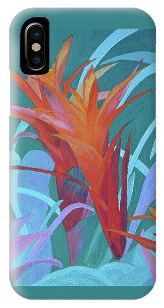A Pattern Of Bromeliads IPhone Case