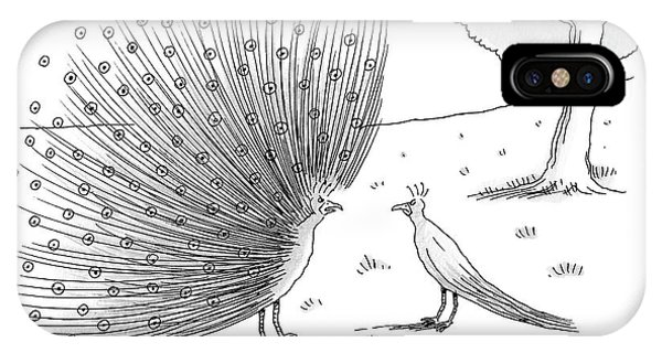 A Peacock With A Massive Coat Yells IPhone Case