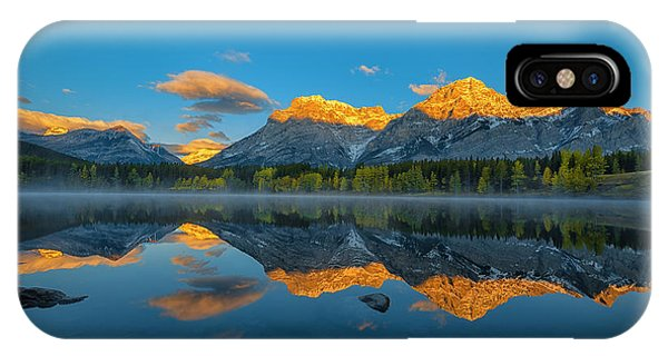 A Perfect Morning In Canadian Rockies Phone Case by Michael Zheng