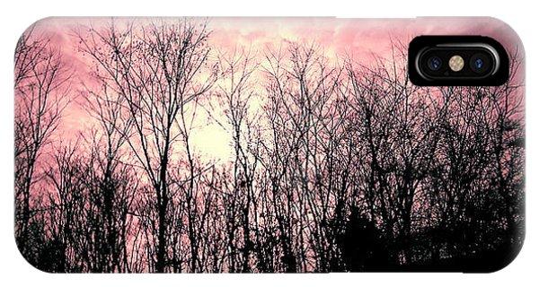 Treeline iPhone Case - A Pink Dawn by Adam S Welch