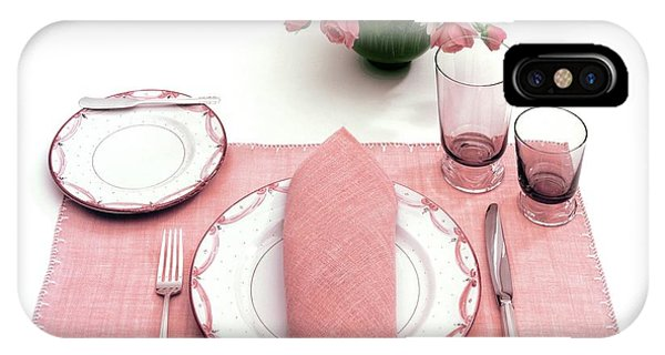 A Pink Table Setting IPhone Case