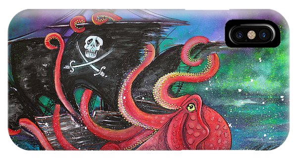 A Pirates Tale - Attack Of The Mutant Octopus IPhone Case