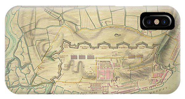 Chatham iPhone Case - A Plan Of Chatham by British Library