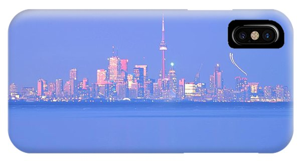 A Plan Overcast The City Sky Line  IPhone Case
