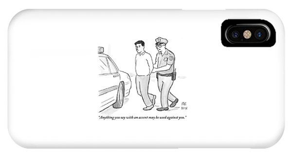 A Police Officer Talks To A Cuffed Man IPhone Case