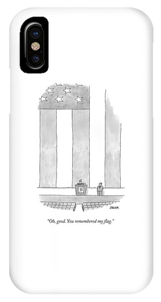 A Politician Behind A Podium Remarks Upon An IPhone Case
