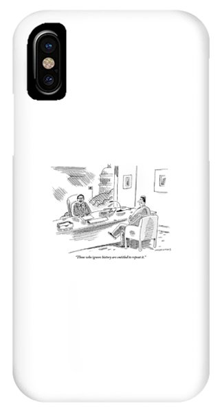 Repeat iPhone Case - A Politician Holds A Meeting With A Colleague. An by Mick Stevens