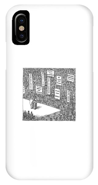 Election iPhone Case - A Politician Stands In Front Of An Audience by John O'Brien