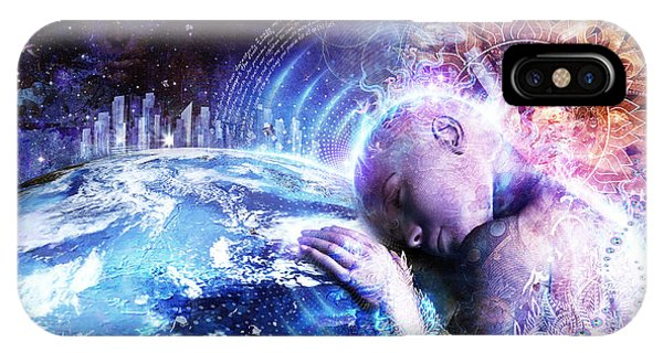 Buddhism iPhone Case - A Prayer For The Earth by Cameron Gray