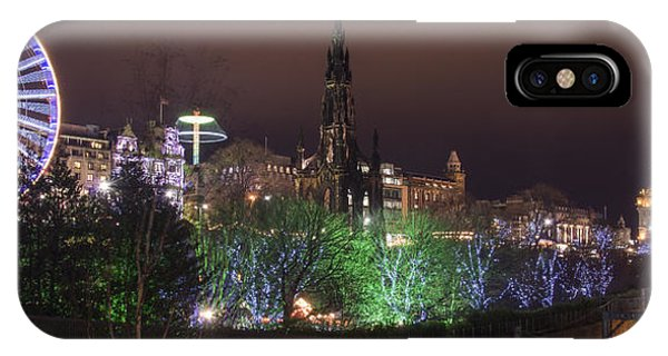 A Princes Street Gardens Christmas IPhone Case