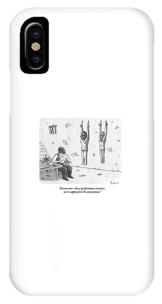 Dungeon iPhone X Case - A Prisoner In A Dungeon Speaks To A Torturer Who by Zachary Kanin