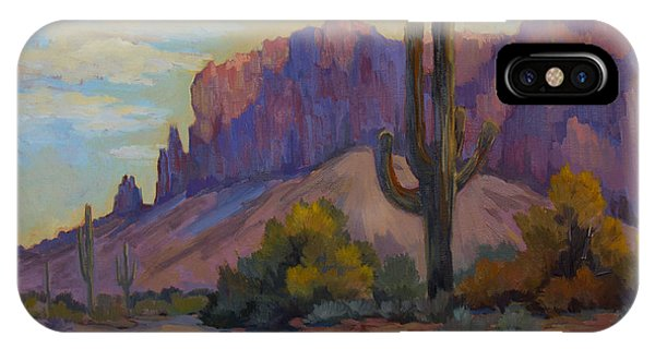 A Proud Saguaro At Superstition Mountain IPhone Case