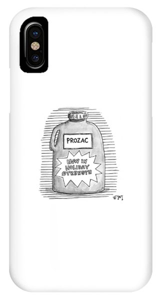 A Prozac Bottle Of Pills Labeled 'now In Holiday IPhone Case