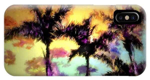 A Rainbow Of Palms IPhone Case