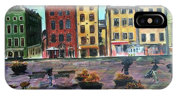 A Rainy Day In Gamla Stan Stockholm IPhone Case