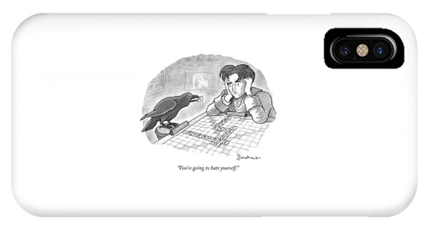 A Raven Is About To Add An N To The Word Evermore IPhone Case