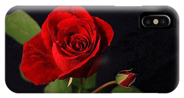 A Red Rose Phone Case by CarolLMiller Photography