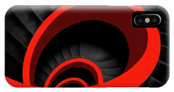 Staircase iPhone Case - A Red Spiral by Inge Schuster