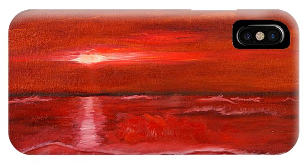 A Red Sunset IPhone Case