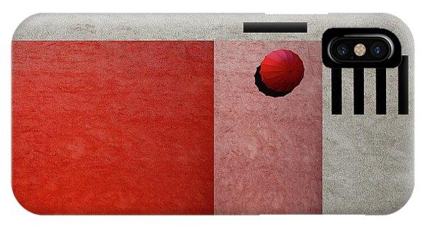 Umbrella iPhone Case - A Red Umbrella by Inge Schuster