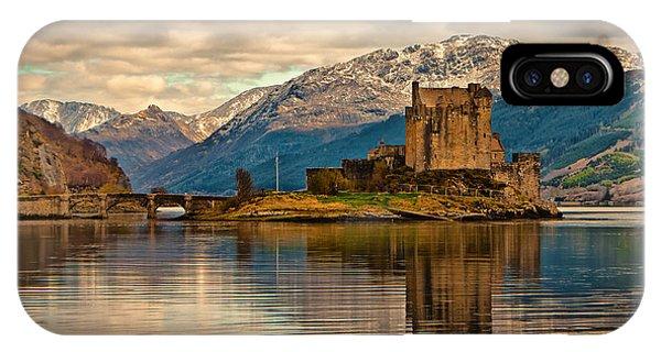 A Reflection At Eilean Donan Castle IPhone Case