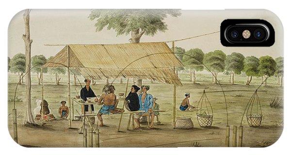 Custom Made iPhone Case - A Refreshment Stall Near Gunung Sari Hous by British Library